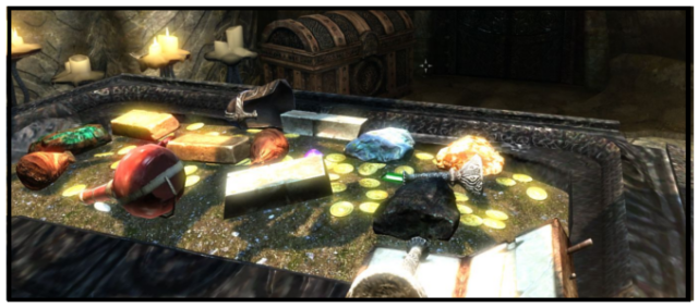 To a player, this table looks like an awesome mess of stuff.  To a dev, this is unnecessary clutter.