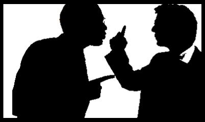 confrontationsillhouette
