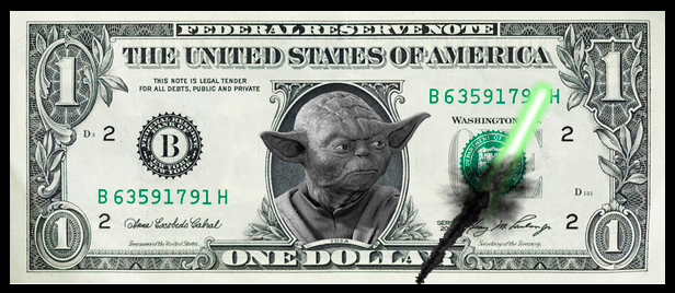 These new Yoda dollar bills seem to destroy themselves somehow...