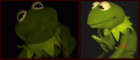 No, Kermie, No!  Heroin is bad for you!