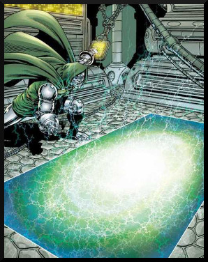 This is Dr. Doom's Time Machine Platform. Note:  He's about to become Future Doom.