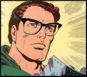 Doom takes off the mask and puts on his 20/10 vision glasses for incredible insight.  Too bad he doesn't know how to hook the frame around his ear.