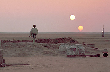 Or maybe two suns, like Tatooine.