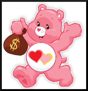 Love-A-Lot-Bear loves Money